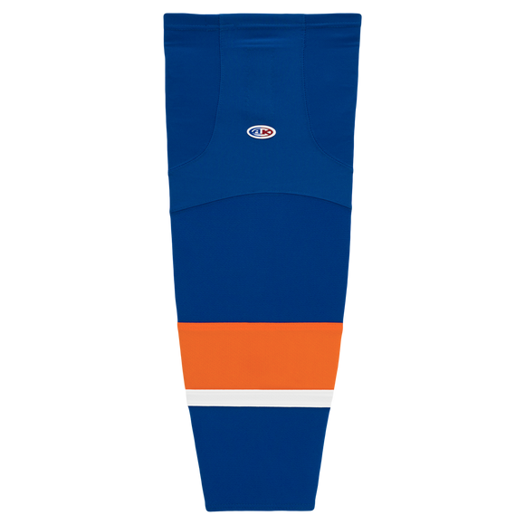 Athletic Knit (AK) HS2100 2010 New York Islanders Royal Blue Mesh Cut & Sew Ice Hockey Socks
