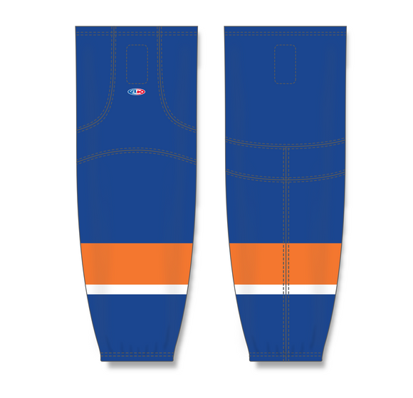 Athletic Knit (AK) HS2100 2010 New York Islanders Royal Blue Mesh Cut & Sew Ice Hockey Socks - PSH Sports