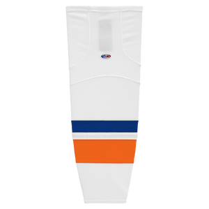 Athletic Knit (AK) HS2100-491 2010 New York Islanders White Mesh Cut & Sew Ice Hockey Socks