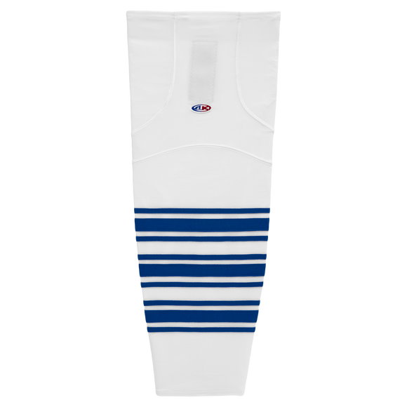 Athletic Knit (AK) HS2100-505 New Toronto Maple Leafs White Mesh Cut & Sew Ice Hockey Socks