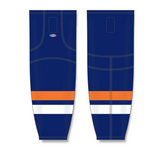 Athletic Knit (AK) HS2100 New York Islanders Navy Mesh Cut & Sew Ice Hockey Socks - PSH Sports