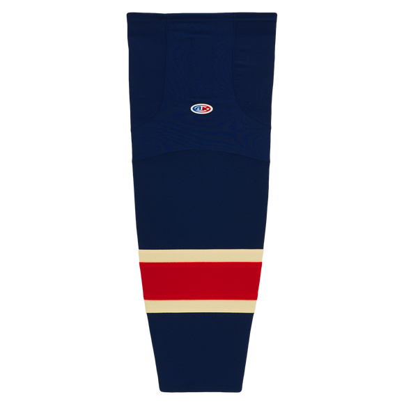 Athletic Knit (AK) HS2100-512 New York Rangers Heritage Navy Mesh Cut & Sew Ice Hockey Socks