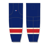 Athletic Knit (AK) HS2100 New York Rangers Heritage Navy Mesh Cut & Sew Ice Hockey Socks - PSH Sports