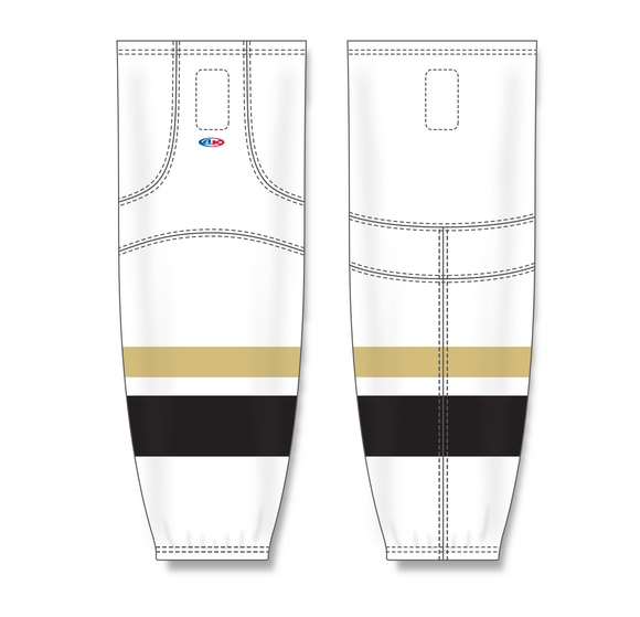 Athletic Knit (AK) HS2100 New Pittsburgh Penguins Third White Mesh Cut & Sew Ice Hockey Socks - PSH Sports