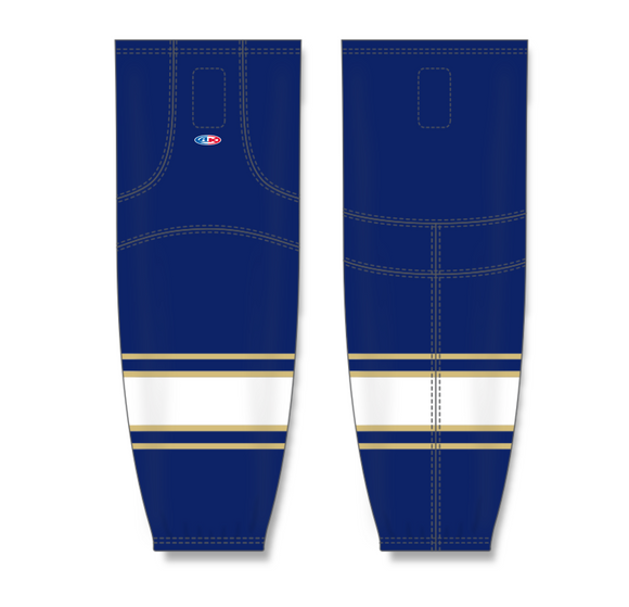 Athletic Knit (AK) HS2100 University of Notre Dame Fighting Irish Navy Mesh Cut & Sew Ice Hockey Socks - PSH Sports