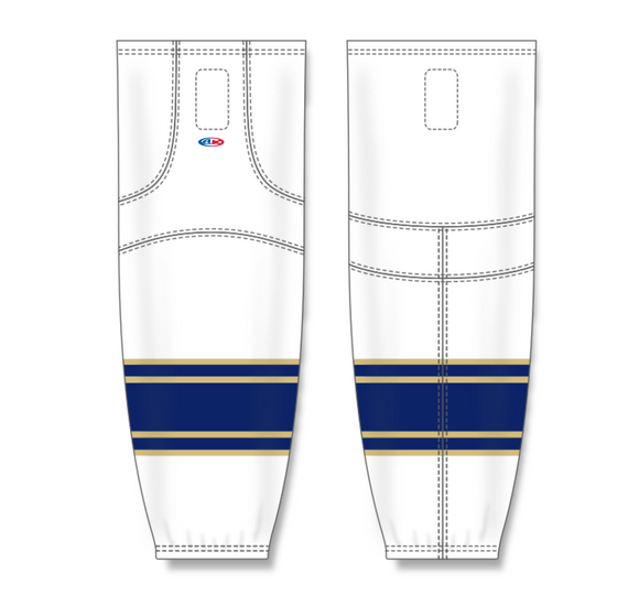 Athletic Knit (AK) HS2100 University of Notre Dame Fighting Irish White Mesh Cut & Sew Ice Hockey Socks - PSH Sports