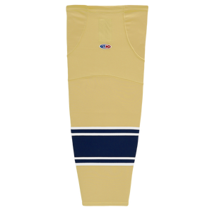 Athletic Knit (AK) HS2100-522 University of Notre Dame Fighting Irish Vegas Gold Mesh Cut & Sew Ice Hockey Socks