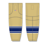 Athletic Knit (AK) HS2100 University of Notre Dame Fighting Irish Vegas Gold Mesh Cut & Sew Ice Hockey Socks - PSH Sports