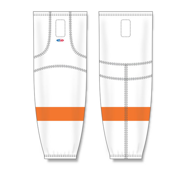 Athletic Knit (AK) HS2100 2011 Philadelphia Flyers White Mesh Cut & Sew Ice Hockey Socks - PSH Sports
