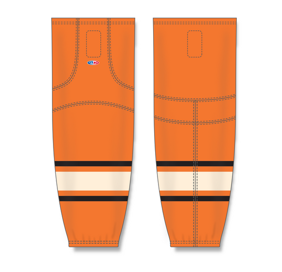 Athletic Knit (AK) HS2100 2012 Philadelphia Flyers Winter Classic Orange Mesh Cut & Sew Ice Hockey Socks - PSH Sports