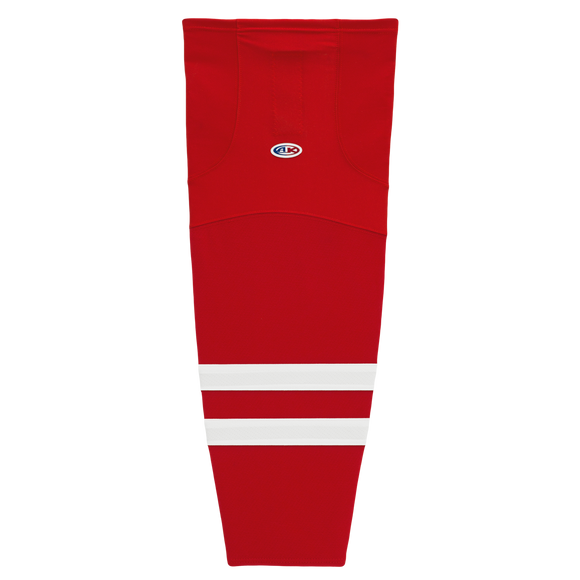 Athletic Knit (AK) HS2100 2013 Carolina Hurricanes Red Mesh Cut & Sew Ice Hockey Socks