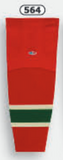Athletic Knit (AK) HS2100-564 2007 Minnesota Wild Red Mesh Cut & Sew Ice Hockey Socks