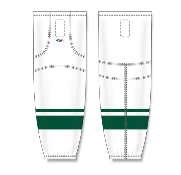 Athletic Knit (AK) HS2100 2013 Minnesota Wild White Mesh Cut & Sew Ice Hockey Socks - PSH Sports
