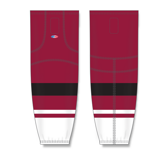 Athletic Knit (AK) HS2100 2015 Arizona Coyotes AV Red Mesh Cut & Sew Ice Hockey Socks - PSH Sports