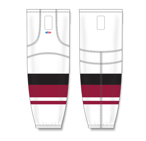 Athletic Knit (AK) HS2100 2015 Arizona Coyotes White Mesh Cut & Sew Ice Hockey Socks - PSH Sports