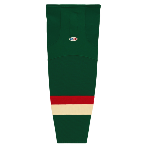 Athletic Knit (AK) HS2100-588 2016 Minnesota Wild Stadium Series Dark Green Mesh Cut & Sew Ice Hockey Socks