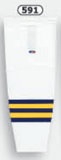 Athletic Knit (AK) HS2100-591 2011 University of Michigan Wolverines White Mesh Cut & Sew Ice Hockey Socks