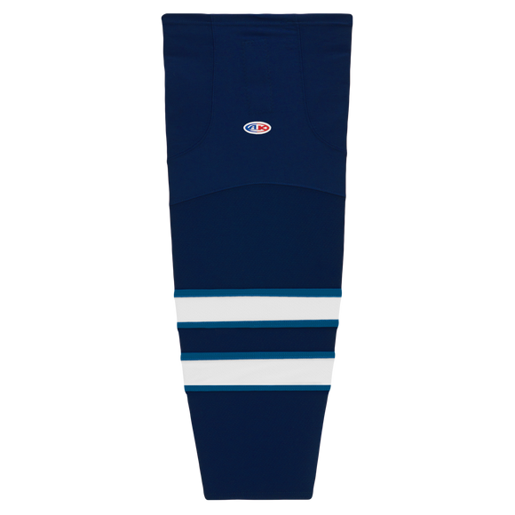 Athletic Knit (AK) HS2100-595 2011 Winnipeg Jets Navy Mesh Cut & Sew Ice Hockey Socks