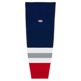 Athletic Knit (AK) HS2100-612 New York Rangers Third Navy Mesh Cut & Sew Ice Hockey Socks