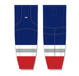 Athletic Knit (AK) HS2100 New York Rangers Third Navy Mesh Cut & Sew Ice Hockey Socks - PSH Sports
