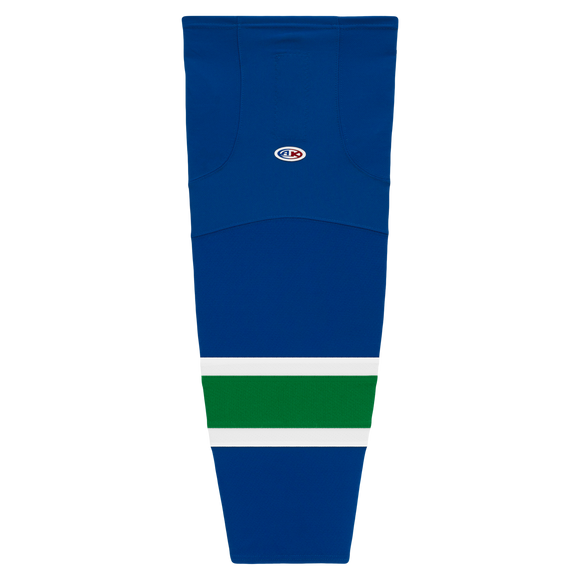 Athletic Knit (AK) HS2100 2004 Vancouver Canucks Royal Blue Mesh Cut & Sew Ice Hockey Socks