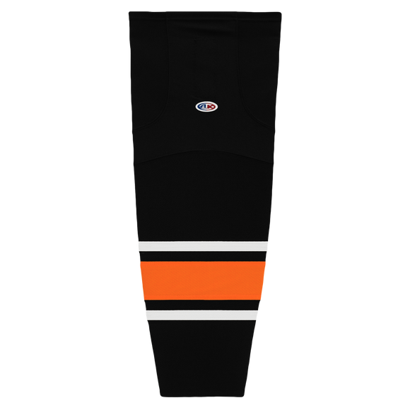 Athletic Knit (AK) HS2100 Philadelphia Flyers Third Black Mesh Cut & Sew Ice Hockey Socks