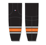 Athletic Knit (AK) HS2100 Philadelphia Flyers Third Black Mesh Cut & Sew Ice Hockey Socks - PSH Sports