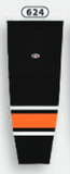 Athletic Knit (AK) HS2100-624 Philadelphia Flyers Third Black Mesh Cut & Sew Ice Hockey Socks