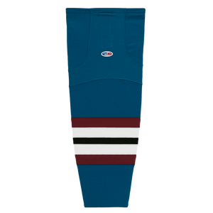 Athletic Knit (AK) HS2100-645 Colorado Avalanche Third Capital Blue Mesh Cut & Sew Ice Hockey Socks