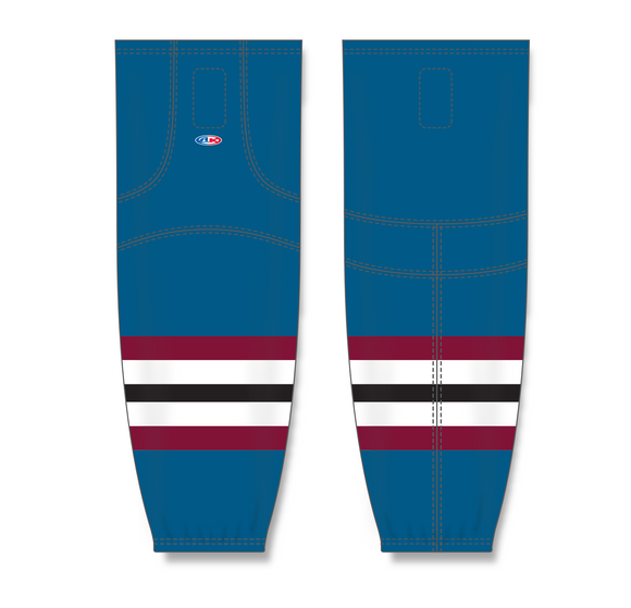 Athletic Knit (AK) HS2100 Colorado Avalanche Third Capital Blue Mesh Cut & Sew Ice Hockey Socks - PSH Sports