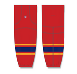 Athletic Knit (AK) HS2100 2013 Florida Panthers Red Mesh Cut & Sew Ice Hockey Socks - PSH Sports