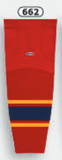 Athletic Knit (AK) HS2100-662 2013 Florida Panthers Red Mesh Cut & Sew Ice Hockey Socks