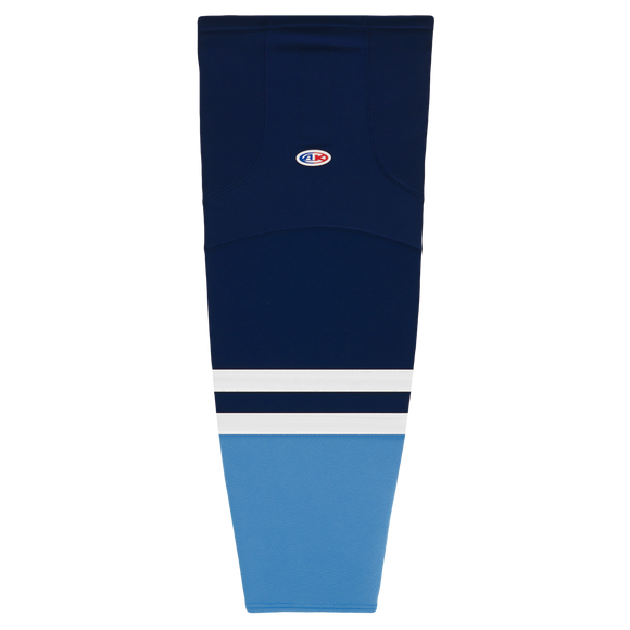 Athletic Knit (AK) HS2100-665 2010 Florida Panthers Third Navy Mesh Cut & Sew Ice Hockey Socks