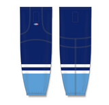 Athletic Knit (AK) HS2100 2010 Florida Panthers Third Navy Mesh Cut & Sew Ice Hockey Socks - PSH Sports