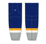 Athletic Knit (AK) HS2100 Nashville Predators Navy Mesh Cut & Sew Ice Hockey Socks - PSH Sports