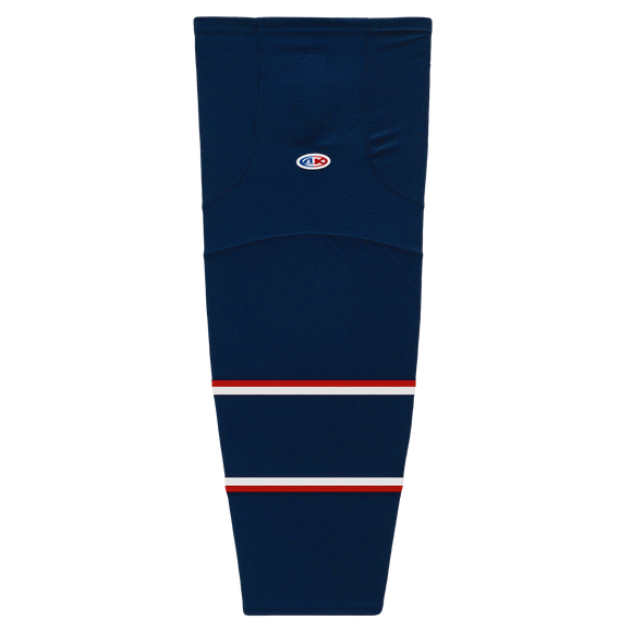 Athletic Knit (AK) HS2100-688 2017 Columbus Blue Jackets Navy Mesh Cut & Sew Ice Hockey Socks