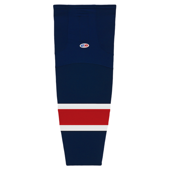 Athletic Knit (AK) HS2100-690 Columbus Blue Jackets Navy Mesh Cut & Sew Ice Hockey Socks