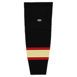 Athletic Knit (AK) HS2100-715 Chicago Blackhawks Winter Classic Black Mesh Cut & Sew Ice Hockey Socks