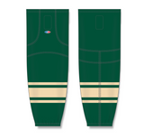Athletic Knit (AK) HS2100 2004 NHL All Stars Forest Green Mesh Cut & Sew Ice Hockey Socks - PSH Sports