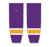 Athletic Knit (AK) HS2100 Vintage Los Angeles Kings Purple Mesh Cut & Sew Ice Hockey Socks - PSH Sports