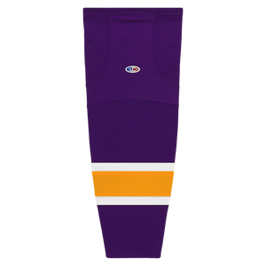 Athletic Knit (AK) HS2100-751 Vintage Los Angeles Kings Purple Mesh Cut & Sew Ice Hockey Socks