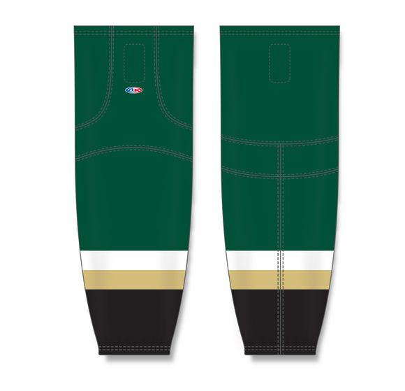 Athletic Knit (AK) HS2100 New Texas (Dallas) Stars Dark Green Mesh Cut & Sew Ice Hockey Socks - PSH Sports