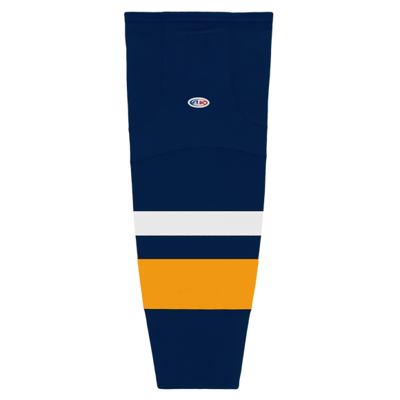 Athletic Knit (AK) HS2100 2008 Buffalo Sabres Navy Mesh Cut & Sew Ice Hockey Socks