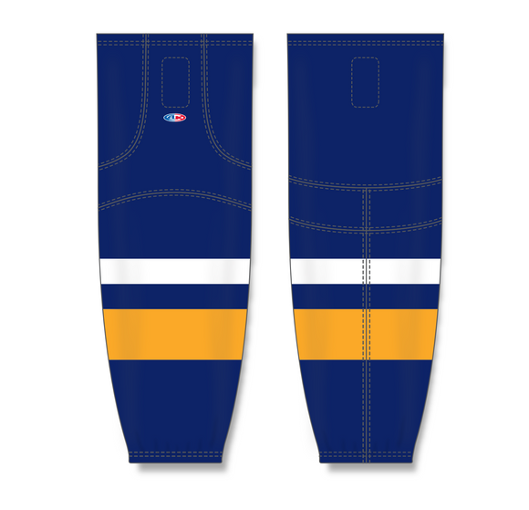 Athletic Knit (AK) HS2100 2008 Buffalo Sabres Navy Mesh Cut & Sew Ice Hockey Socks - PSH Sports