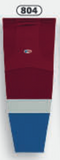 Athletic Knit (AK) HS2100-804 2011 Colorado Avalanche Cardinal Red Mesh Cut & Sew Ice Hockey Socks