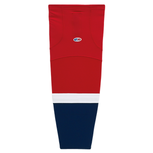 Athletic Knit (AK) HS2100-808 2013 Washington Capitals Red Mesh Cut & Sew Ice Hockey Socks