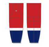 Athletic Knit (AK) HS2100 2013 Washington Capitals Red Mesh Cut & Sew Ice Hockey Socks - PSH Sports