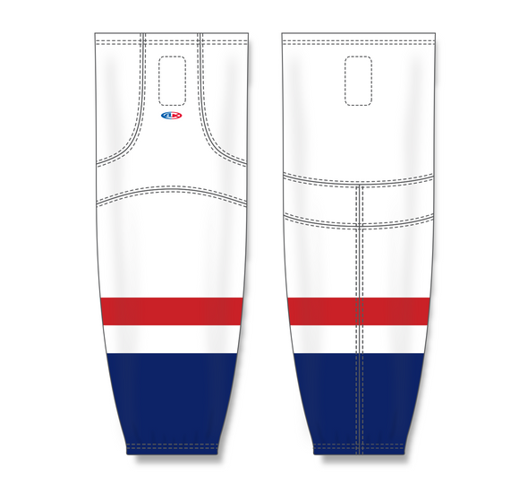 Athletic Knit (AK) HS2100 2013 Washington Capitals White Mesh Cut & Sew Ice Hockey Socks - PSH Sports
