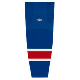 Athletic Knit (AK) HS2100 New York Rangers Royal Blue Mesh Cut & Sew Ice Hockey Socks