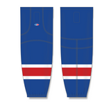 Athletic Knit (AK) HS2100 New York Rangers Royal Blue Mesh Cut & Sew Ice Hockey Socks - PSH Sports